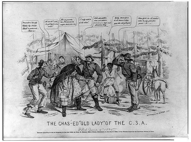 "The chas-ed ""old lady"" of the C.S.A.  (1865; LOC: http://www.loc.gov/item/2008661686/)"