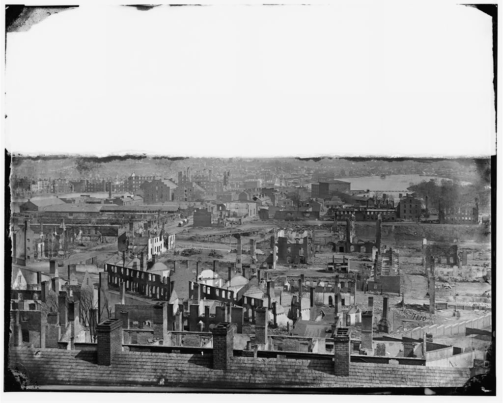 Richmond, Va. General view of the burned district (by Aleaxander gardner, April-June 1865; LOC: http://www.loc.gov/item/cwp2003000654/PP/)