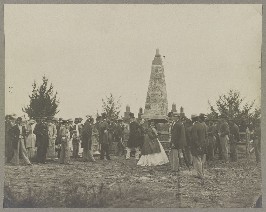 Dedication of monument at Bull Run, Va. (by William Morris Smith, photographed 1865 June, printed between 1880 and 1889; LOC: http://www.loc.gov/item/2012647844/)