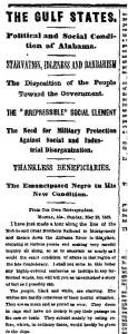 NYT 6-12-1865 South
