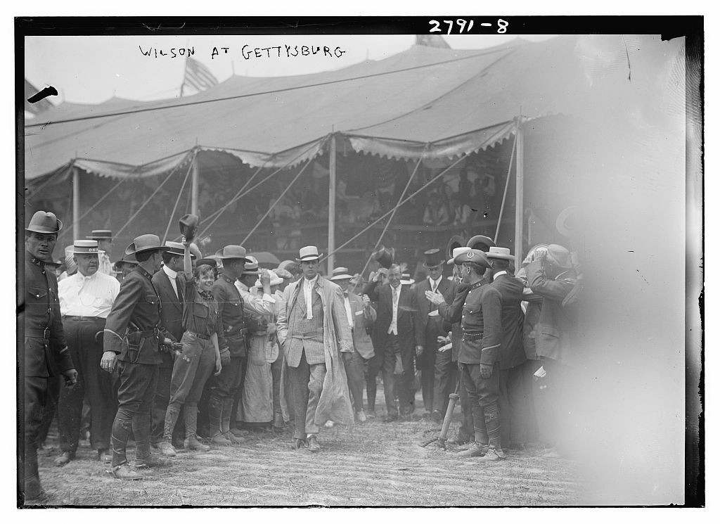 Wilson at Gettysburg  (1913; LOC: http://www.loc.gov/item/ggb2005013864/)