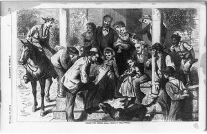Taking the census / after sketch by Thomas Worth (Illus. in: Harper's weekly, 1870 Nov. 19, p. 749. ; LOC: http://www.loc.gov/item/93510014/)
