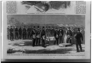 Laying the corner-stone of the Soldiers' Monument at Gettysburg, July 4, 1865 (LOC: http://www.loc.gov/pictures/item/89706320/)