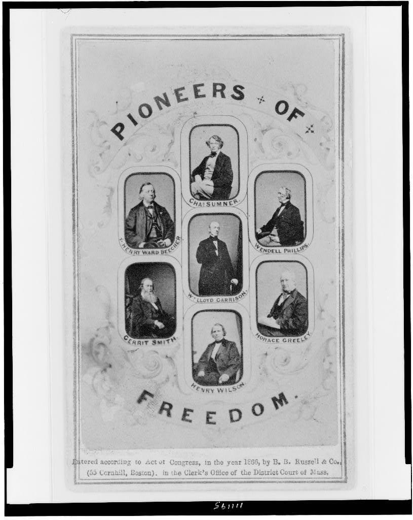 Pioneers of freedom (1866; LOC: http://www.loc.gov/item/94507586/)