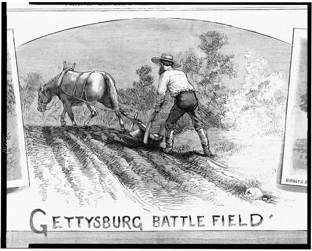 Gettysburg battlefield  ( Illus. in: Frank Leslie's illustrated newspaper, 1882 June 24, pp. 280-281. ; LOC: http://www.loc.gov/item/95522081/)