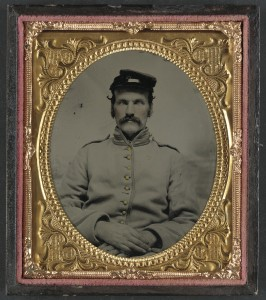 Unidentified soldier in Union Veteran Reserve Corps uniform (between 1861 and 1865; LOC: http://www.loc.gov/item/2012648971/)