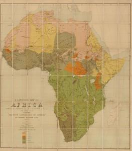 Language map of Africa 1883 (LOC: v)