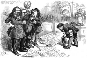 Nast asks Pardon (Harper's Weekly, June 6, 1874, p. 480.)