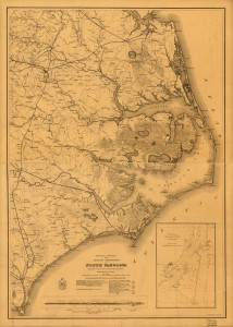 Eastern portion of the military department of North Carolina (1862; LOC: http://www.loc.gov/item/99447455/)