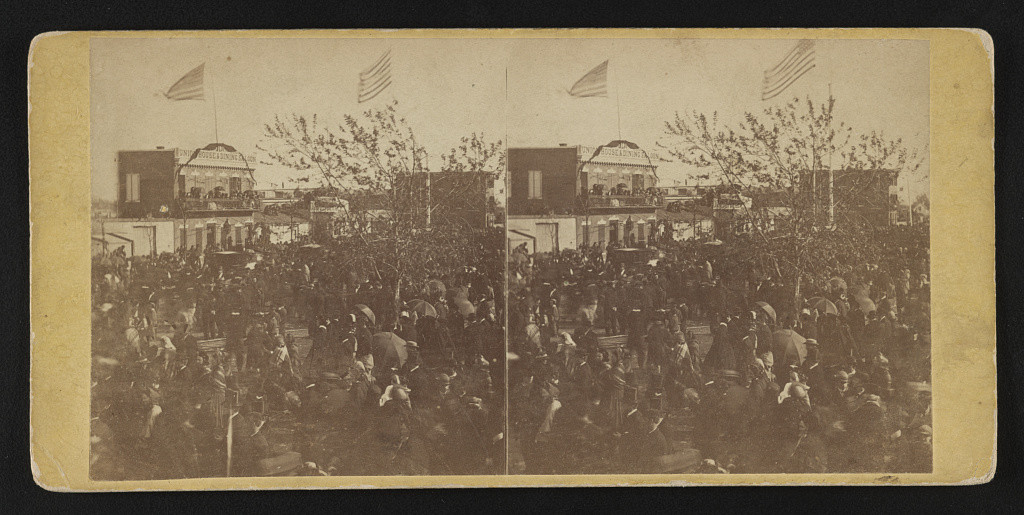 Crowd at the Baltimore depot before the funeral arrived (4-21-1865; LOC: http://www.loc.gov/item/2015645306/)