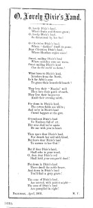O, lovely Dixie's land. Baltimore, April, 1861 (LOC (http://www.loc.gov/item/amss001017/)