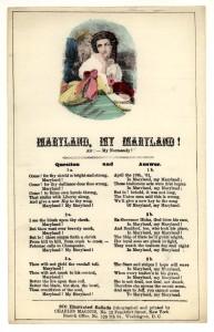 Maryland, my Maryland!  (LOC: http://www.loc.gov/item/amss002995/)