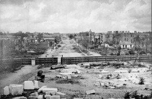 Columbia_sc_ruins (South Carolina, Columbia, view from the State Capitol)