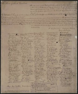 The state of South Carolina. At a convention an ordinance to dissolve the Union. (1865; LOC: http://www.loc.gov/item/scsm000680/)