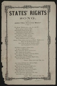 States rights song. (LOC:States rights song. )