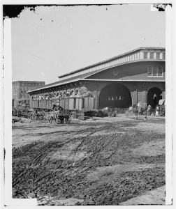 [Atlanta, Ga. Boxcars with refugees at railroad depot] (1864; LOC: http://www.loc.gov/item/cwp2003000879/PP/)