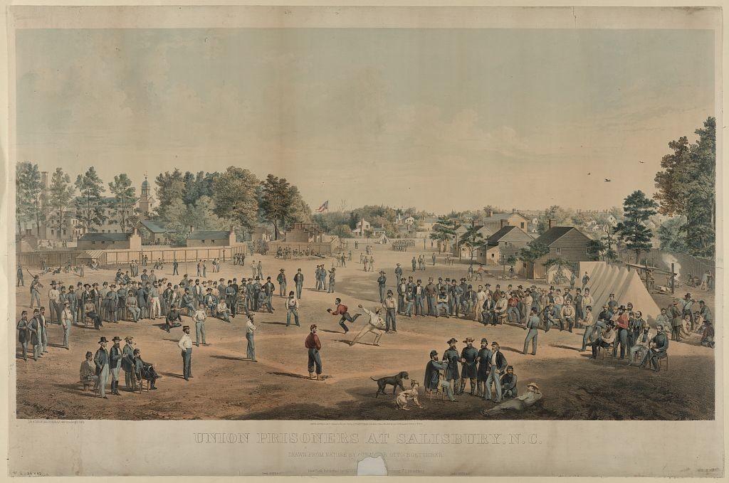 Union prisoners at Salisbury, N.C. / drawn from nature by Act. Major Otto Boetticher ; lith. of Sarony, Major & Knapp, 449 Broadway, N. York. (1863; LOC: http://www.loc.gov/item/94508290/)