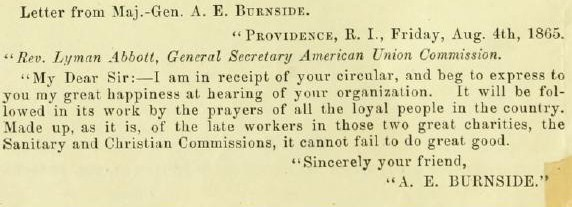 Burnside to Commission (preface)
