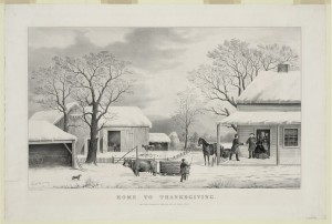 Home to Thanksgiving (by Currier & Ives, c.1867; LOC: http://www.loc.gov/item/2002695889/)
