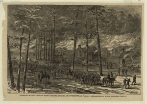 Sherman's March Through South Carolina - Burning of McPhersonville, February 1, 1865 (Published in: Harper's Weekly, March 4, 1865, p. 136.; LOC: http://www.loc.gov/item/2004661258/)