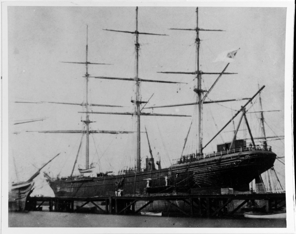 CSS Shenandoah (Australia, 1865; US Navy: http://www.history.navy.mil/our-collections/photography/numerical-list-of-images/nhhc-series/nh-series/NH-85000/NH-85964.html)