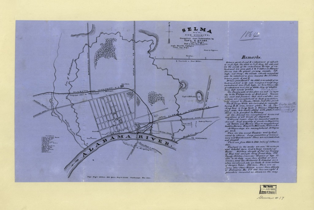 Selma Alabama 1864 (LOC: http://www.loc.gov/item/2004626932/)