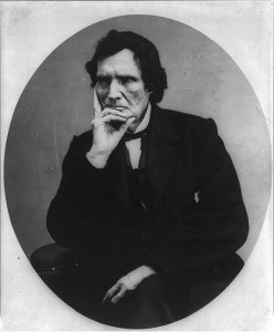 Thaddeus Stevens, 1792-1868, half length portrait, seated, facing left; hand under chin (c.1898; LOC: http://www.loc.gov/item/2005686648/)