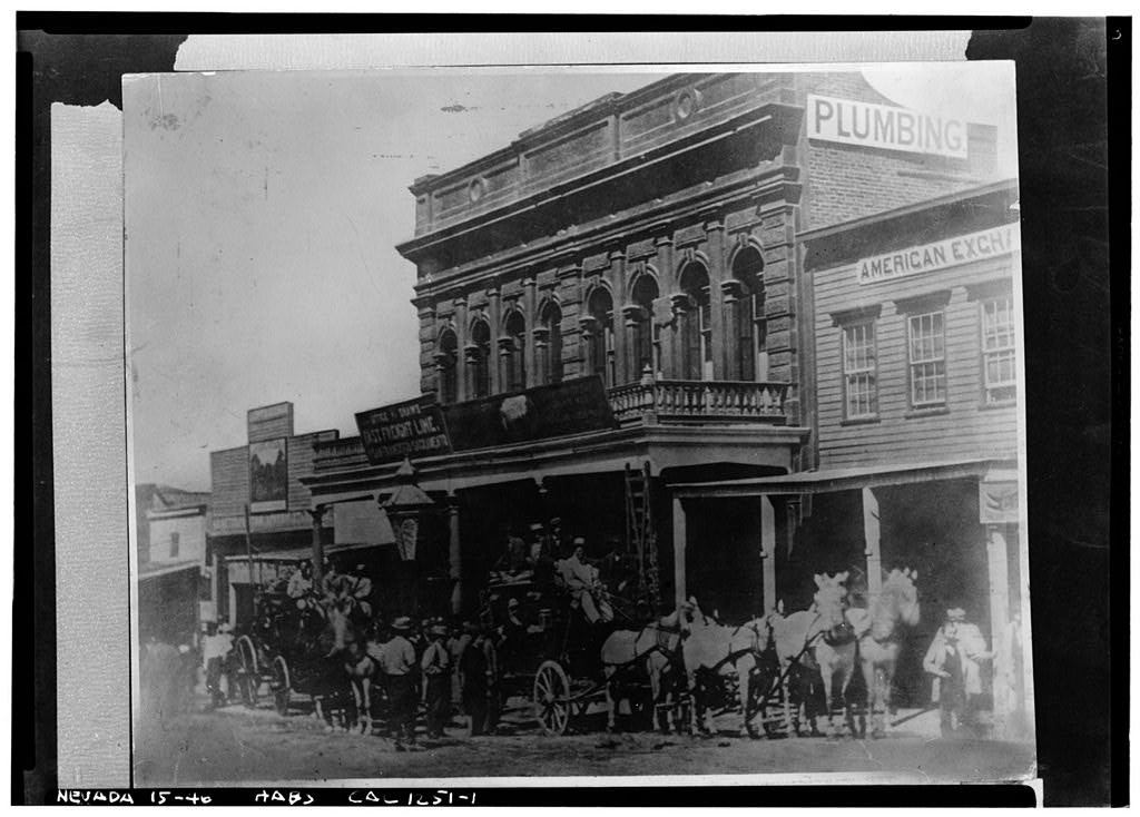 Wells Fargo Building, C Street, Virginia City, Storey County, NV (c.1866; LOC: http://www.loc.gov/item/nv0009/)