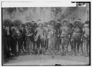 Villa & staff, Mexico (between ca. 1910 and ca. 1915; LOC: https://www.loc.gov/item/ggb2004010234/)