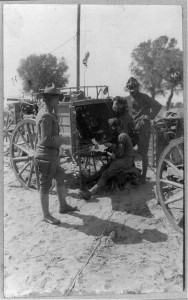 Receiving wireless messages from the border near Casas Grandes, Mexico - Mexican-U.S. Campaign after Villa, 1916 (c1916; LOC: https://www.loc.gov/item/2002718111/)