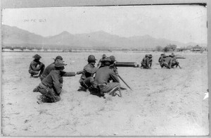 8th Machine Gun Cavalry in action on Mexican border--Mexican-U.S. campaign after Villa, 1916 (c1916 April 20.; LOC: https://www.loc.gov/item/96509207/)