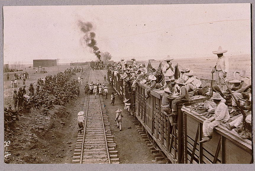 Carranza and U.S. troops use trains in search for Villa--Mexican-U.S. campaign after Villa, 1916 (LOC: https://www.loc.gov/item/96513069/)