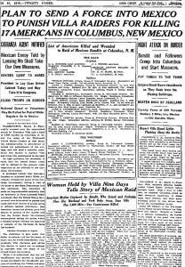 NY Times March, 10 1916