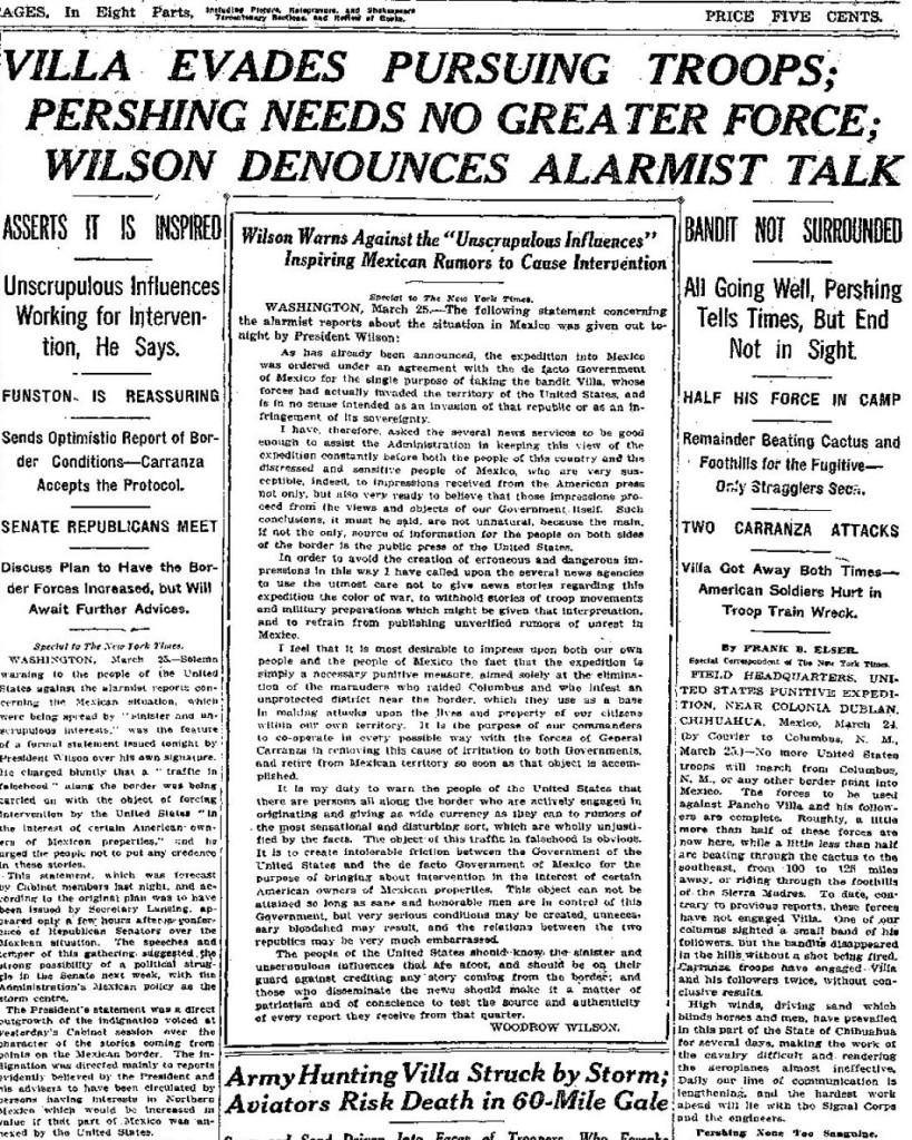 NY Times March 26, 1916