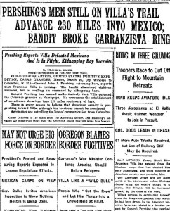 NY Times March 27, 1916