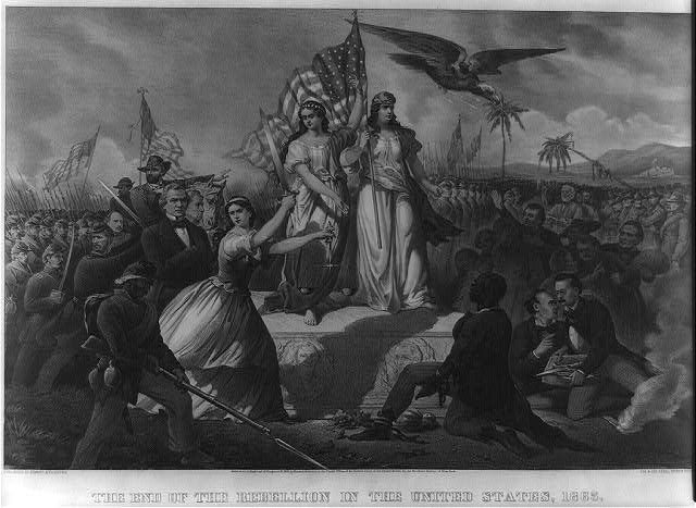 The end of the rebellion in the United States, 1865 / C. Kimmel. (c1866; LOC: https://www.loc.gov/item/2004665369/)