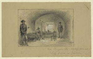 The casemate, Fortress Monroe, Jeff Davis in prison (1865; LOC: https://www.loc.gov/item/2004660790/)