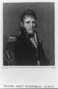 Major Genl. Winfield Scott / Wood pinxt. ; Edwin sc. ([Philadelphia] : Publish'd by M. Thomas, 1814 Oct. 25.; LOC: https://www.loc.gov/item/2012645312/)