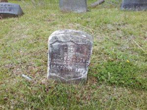 William Johnson Civil War marker Restvale Cemetery, Seneca Fally NY 5-15-2016