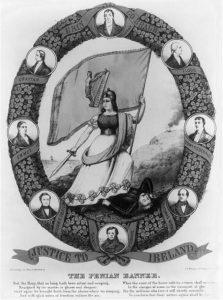 The Fenian banner (1866; LOC: https://www.loc.gov/item/2003656467/)