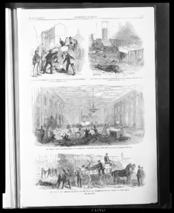 The riot in New Orleans (by Theodore R. Davis      Illus. in: Harper's weekly, v. 10, no. 504 (1866 August 25), p. 537; LOC: https://www.loc.gov/item/2008680259/)