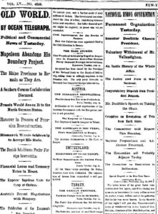 NY Times August 16, 1866