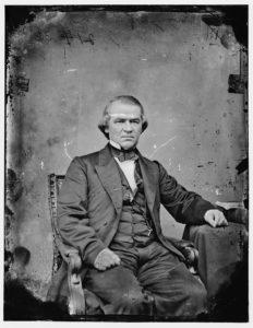 Hon. Andrew Johnson (between 1860 and 1875; LOC: https://www.loc.gov/item/brh2003000892/PP/)
