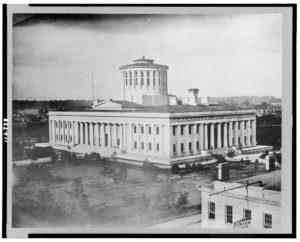 State Capitol, Columbus, Ohio (ca. 1860; LOC: https://www.loc.gov/item/95501378/)