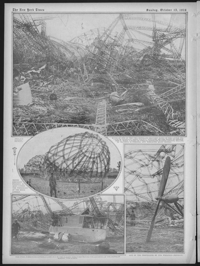 more Zeppelin wreckage from September 1916 raid in England