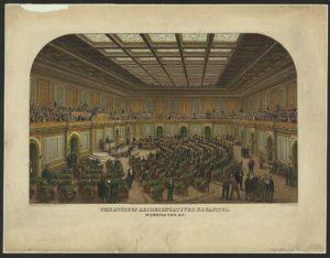 The House of Representatives, U.S. Capitol, Washington, D.C. / lith. by E. Sachse & Co. (Washington, D.C. : Published by Casimir Bohn, 1866.; LOC: https://www.loc.gov/item/98507527/)