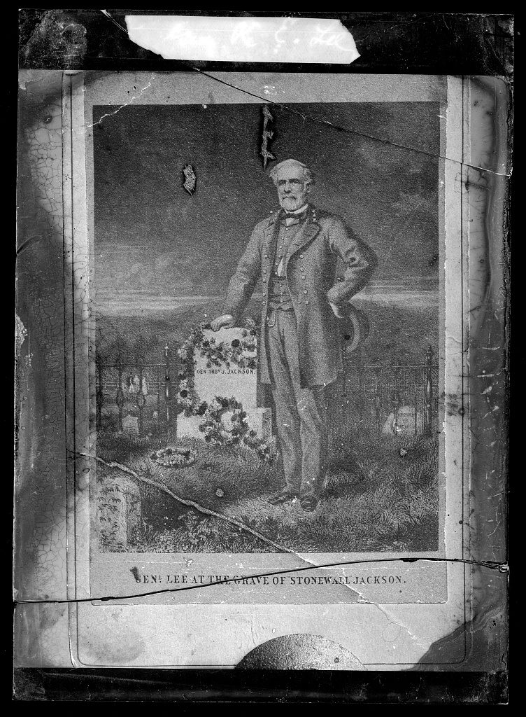 Miscellaneous. Lee, Gen. R.E. [at the grave of Stonewall Jackson] (between 1873 and ca. 1916; LOC: https://www.loc.gov/item/2016713006/)