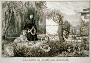 The grave of Stonewall Jackson: Lexington Virginia (New York : Published by Currier & Ives, c1870.; LOC: https://www.loc.gov/item/2001702138/)