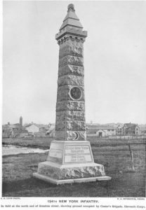 154th Regiment Monument at Gettysburg (http://dmna.ny.gov/historic/reghist/civil/infantry/154thInf/154thInfMonument.htm)
