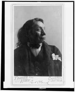[Red Cloud, Oglala division of Lakota, Sioux, head-and-shoulders portrait, facing right wearing suit] / Trager and Kuhn, Chadron, Neb. (c1891; LOC: https://www.loc.gov/resource/cph.3c04561/)